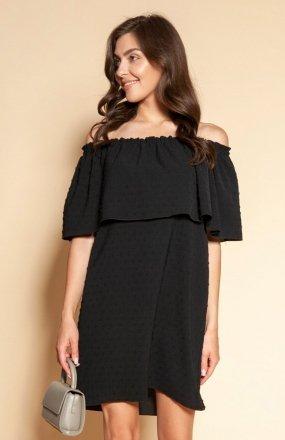 Krótka sukienka hiszpanka czarna SUK201