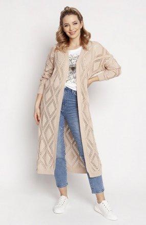 MKM PA012 swetrowy płaszczyk beżowy