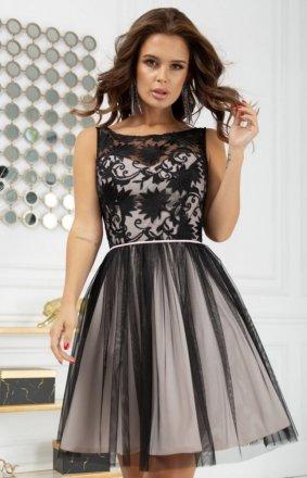 Koktajlowa sukienka z tiulem 2207-16