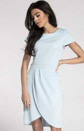 Sukienka typu tulipan błękitna NA1008