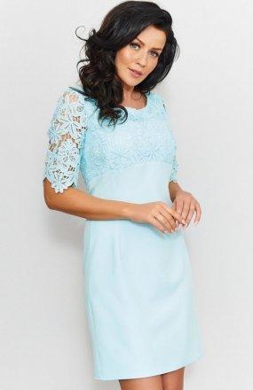 *Roco 0205 sukienka miętowa