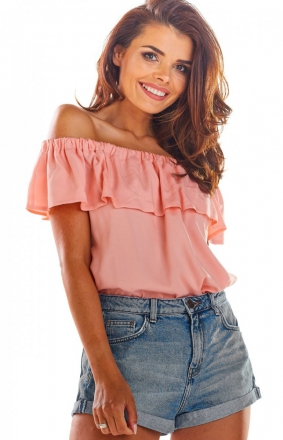 Bluzka hiszpanka różowa A288