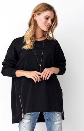 Asymetryczna bluza damska czarna Numinou NU250