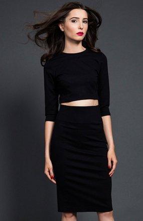 Kasia Miciak komplet czarna sukienka