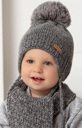 AJS 40-436 ciepła czapka i szalik dziecięcy
