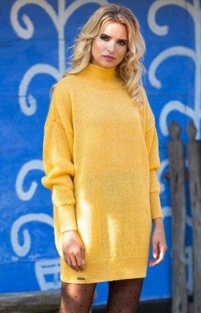 Fobya F574 sukienka żółta