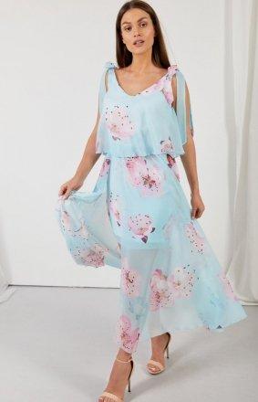 Asymetryczna sukienka maxi LG548/D18