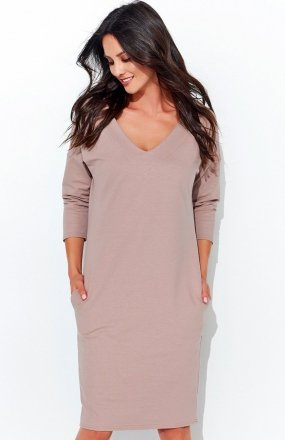 Numinou NU104 sukienka dresowa beżowa
