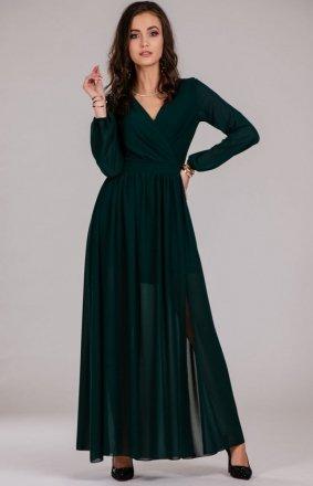 *Wieczorowa sukienka maxi zielona 0257
