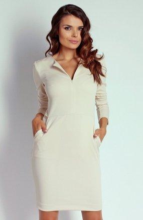 Nommo NA109 sukienka beżowa