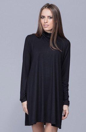 Harmony H013 sukienka z golfem czarna