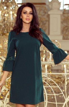 Numoco 190-7 sukienka butelkowa zieleń