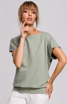 Bawełniana bluzka z krótkim rękawem M498