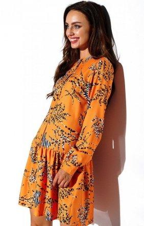 Koszulowa sukienka w kolorowe wzory L311/D8