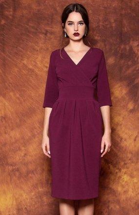 Kasia Miciak design mono sukienka fioletowa