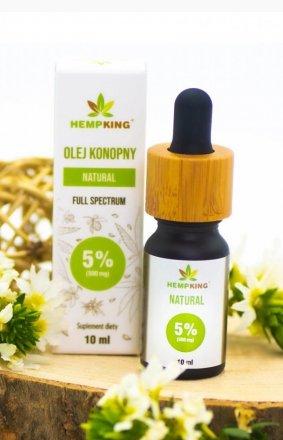 HempKing Olej konopny CBD Natural 5%