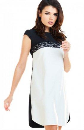 Dwukolorowa sukienka A254