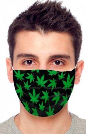 Maseczka ochronna marihuana 1