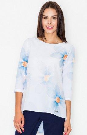 Figl M505 bluzka niebieskie kwiaty