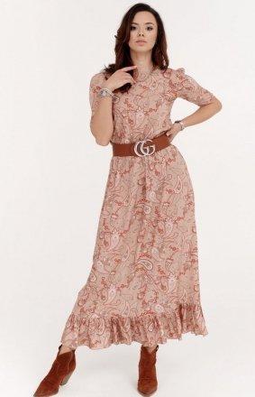 *Szyfonowa sukienka w kwiaty 283/W01