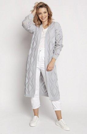 MKM PA012 swetrowy płaszczyk szary
