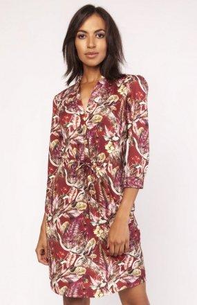 Sukienka z delikatną stójką wzór SUK153