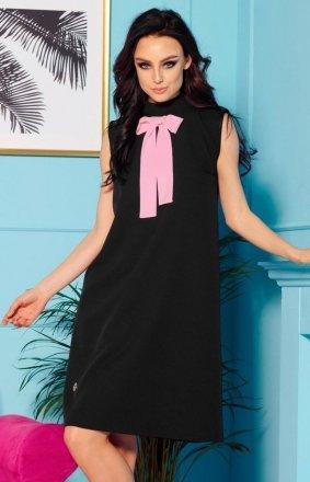 Sukienka z kokardą czarna L296