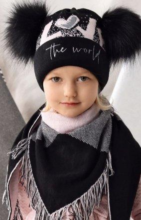 AJS 42-467 czapka i chusta dziewczęca
