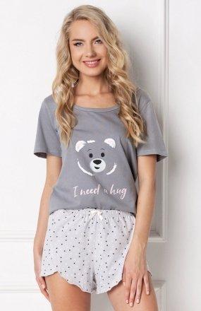 Aruelle Huggy Bear Short Grey piżama