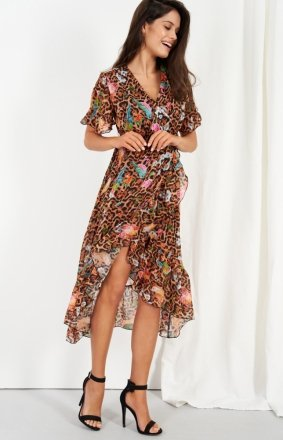 Zwiewna asymetryczna sukienka maxi LG523/D13