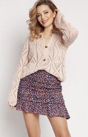 MKM SWE233 rozpinany sweter różowy
