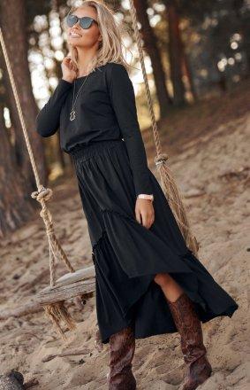 Dzianinowa maxi sukienka M573