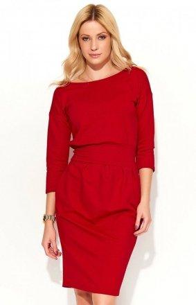 *Makadamia M376 sukienka czerwona