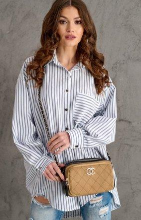 Oversizowa koszula w paski 0104 C2N