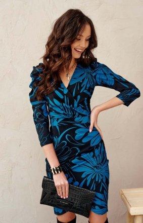 Ołówkowa sukienka print 0329/L26
