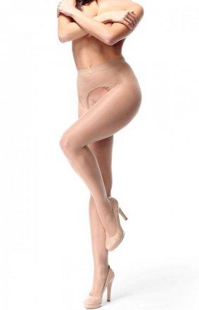 *MissO P201 seksowne rajstopy z wycięciem