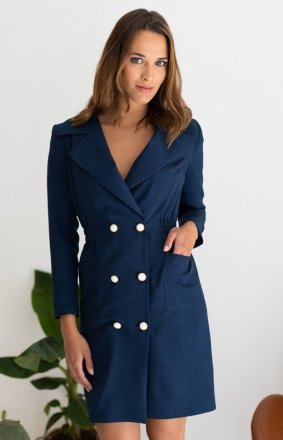 Sukienka żakietowa navy LP283