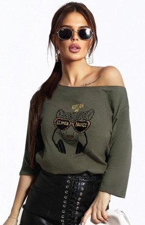 Kobieca bluzka z tygrysem 102-13