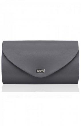 Elegancka kopertówka damska ciemno szara M5 MAT