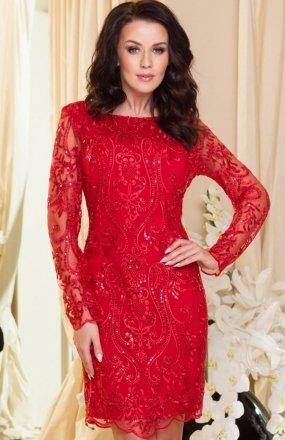 Roco 0122 sukienka czerwona