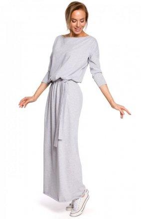 Sportowa długa sukienka szara M435