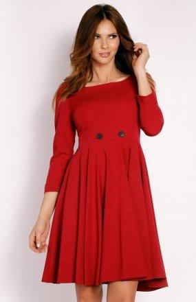 LOU LOU L003 sukienka bordowa