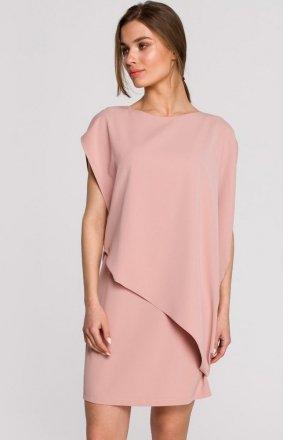 Elegancka sukienka mini warstwowa S262