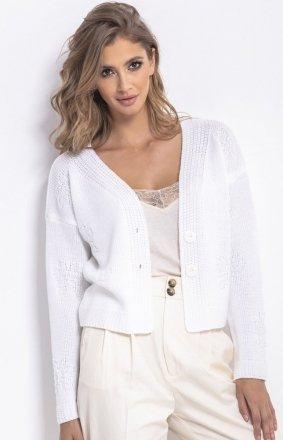 Krótki sweterek biały F767