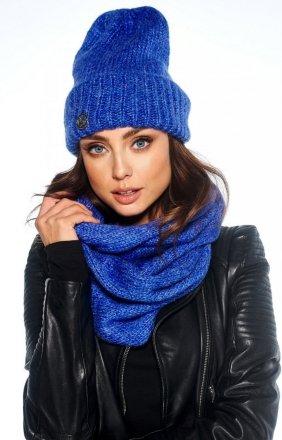 *Zimowy komplet czapka i szalik chabrowy LC119
