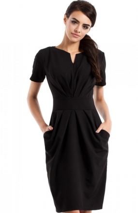 Moe MOE234 sukienka czarna
