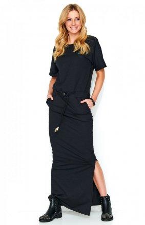 *Sukienka maxi czarna M468