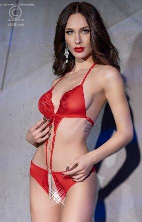 Chilirose 4410 czerwone body damskie