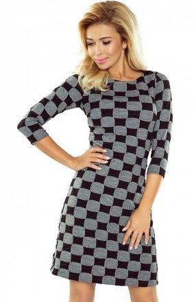 Numoco 164-1 sukienka szachownica