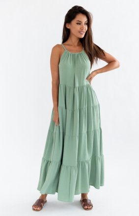 Letnia sukienka maxi oliwkowa Rossa